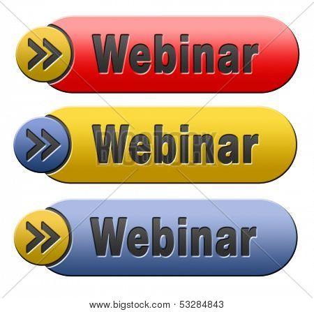 webinar online internet web conference meeting or workshop live video chat