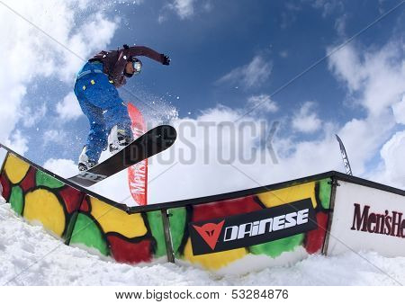 Snowboarder In The Park