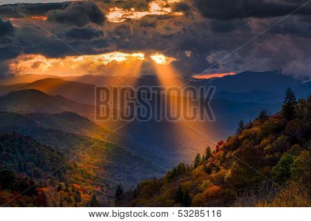 Autumn Sunrise In The Smokies