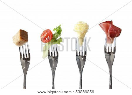 Food on forks