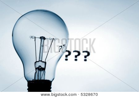 Bulb And Question Mark