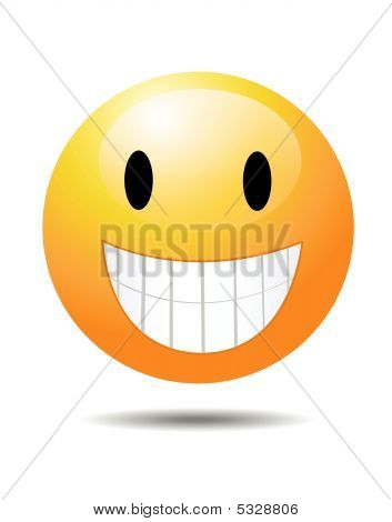 Smiley On White Vector Illustration