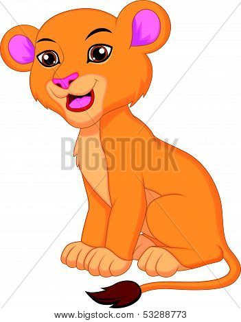 Cute lioness cartoon