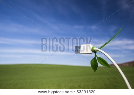 Green technology field and usb cable