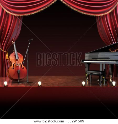Orchestra symphony themed stage