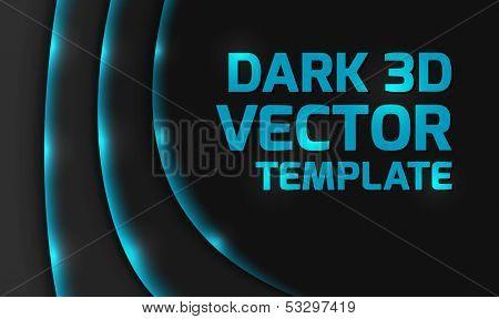 Abstract blue dark 3d design background