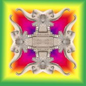 image of rangoli  - background of beautiful elephant statue for indian rangoli festival - JPG