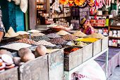 Indian Marketstall Selling Ingredients