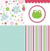 foto of baby frog  - Baby pattern set - JPG