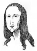 stock photo of mona lisa  - mona lisa has been dieting and is determined to become a size 4 - JPG