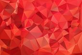 stock photo of polygons  - Red abstract background polygon - JPG