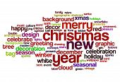 Christmas And New Year Word Cloud