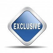 image of exclusive  - exclusive offer edition or VIP treatment rare high quality product with limited production icon button or exclusivity sign - JPG