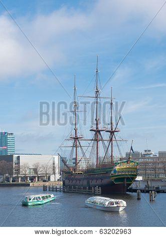 Voc Ship In Amsterdam