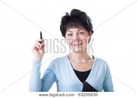 Elegant And Smart Middle-aged Woman