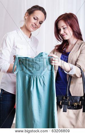 Friends Viewing New Dress