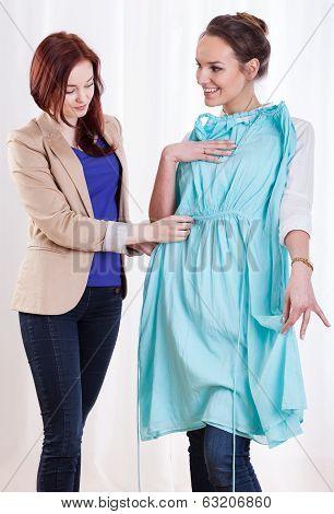 Woman Showing New Dress