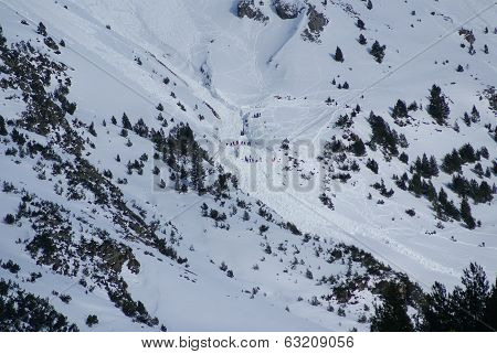 Small Avalanche Bottom View, Torla Resort,spain