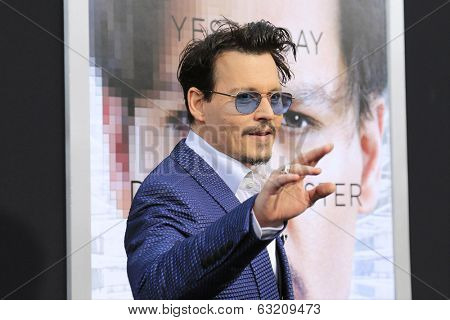 LOS ANGELES - APR 10: Johnny Depp at the premiere of 'Transcendence' at the Regency Village Theater on April 10, 2014 in Los Angeles, California