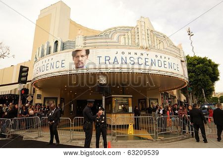 LOS ANGELES - APR 10: Theater at the premiere of 'Transcendence' at the Regency Village Theater on April 10, 2014 in Los Angeles, California