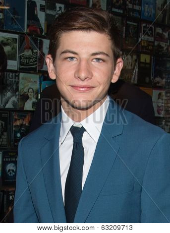 NEW YORK-APR 9: Actor Tye Sheridan attends the Lionsgate & Roadside Attractions with The Cinema Society premiere of 'Joe' at Landmark's Sunshine Cinema on April 9, 2014 in New York City.