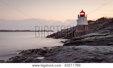 Castle Hill Lighthouse At Sunrise