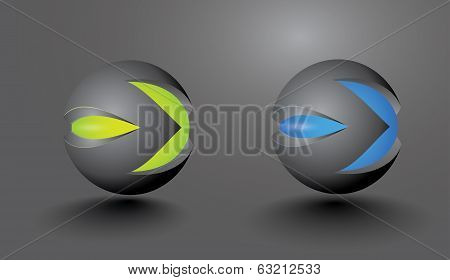3D Balls In The Ideal Mask Or The Letter M