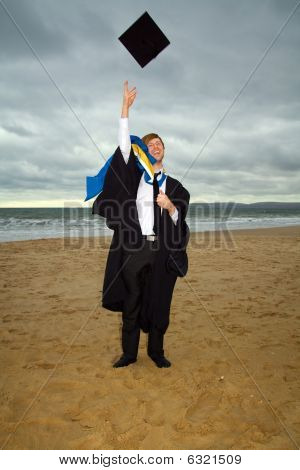 Graduation In Cap And Gown