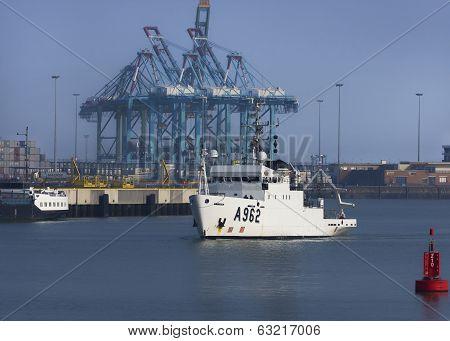 A962 Ocean Research Vessel Of Belgian Navy.