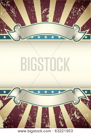 Beautifull illustration of the vintage American Background