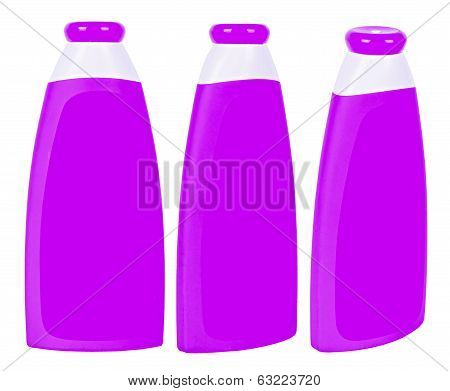 Shampoo Containers Isolated