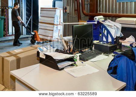 Worker Loading On Forklift