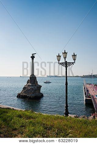 Scuttled Warships Monument In Sevastopol, Crimea