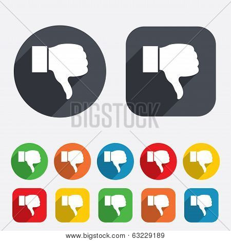 Dislike sign icon