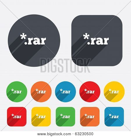 Archive file icon. Download RAR button.
