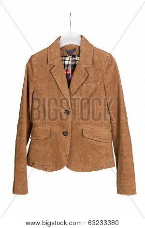 corduroy jacket with hanger