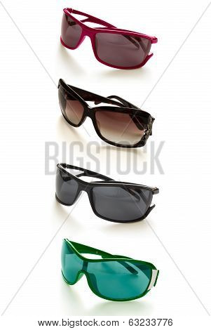 eyeglasses collection isolated on the white backogrund