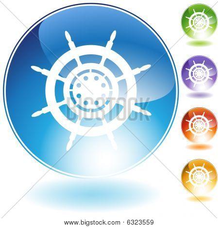 Ship Steering Wheel Crystal Icon
