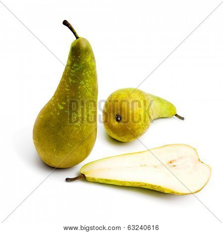 Small group of pears (Conference) isolated on white background