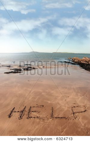 Help Carved In Sand