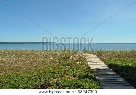Barrier beach on madeline island
