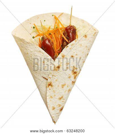 Lula kebab in pita
