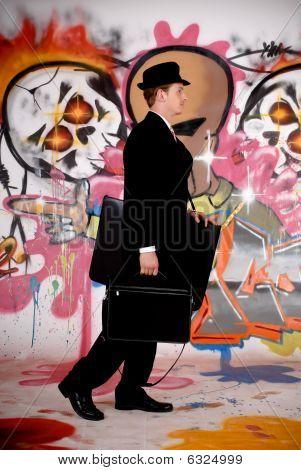Empresário, Graffiti urbano