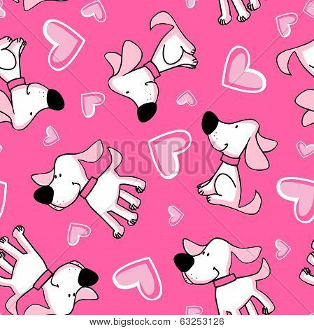 Puppy Love Seamless Pattern Placement