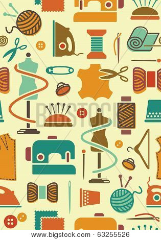 Sewing and needlework background