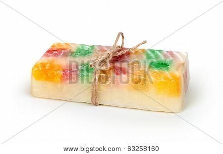 handmade soaps isolated on white