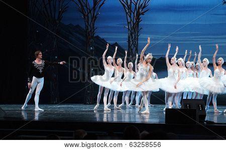 Swan lake ballet scene
