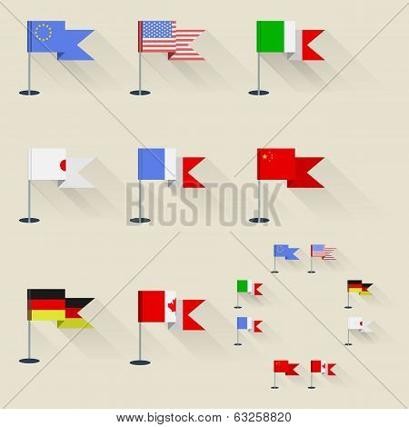 Illustration of pennants