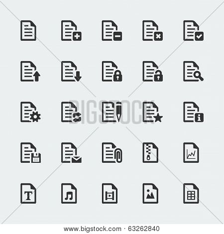 Vector Document / File Mini Icons Set