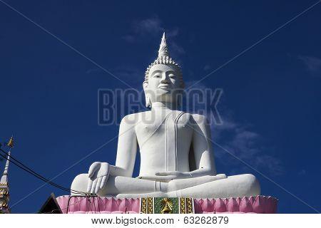 Big White Statue Buddha